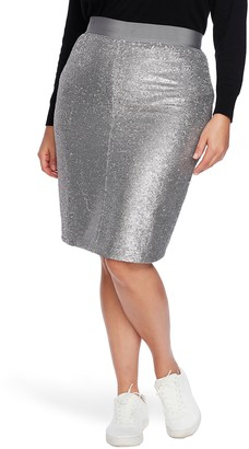 Court & Rowe Sequin Pencil Skirt