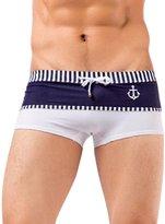 Panegy Men's Swimwear Navy Boxer Swim Trunks Mens Sports Outdoors Swimsuit Male Size
