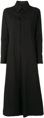 Yohji Yamamoto A-line drawcord-detail shirt dress