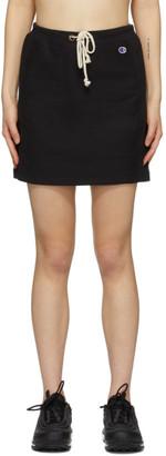 Champion Reverse Weave Black Logo Sweat Skirt