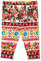 Dolce & Gabbana Stretch Jersey Mambo Leggings, Multicolor, Size 12-36 Months