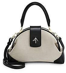 Atelier Manu Women's Demi Cotton & Leather Top Handle Bag