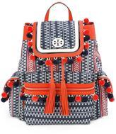 Tory Burch pompom trim backpack - women - Nylon - One Size