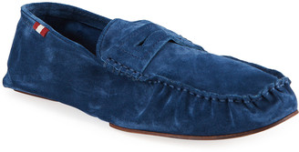 Bally Men's Suede Penny Drivers