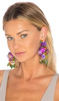 Mercedes Salazar Fiesta Flor Tropical Earrings in Purple.