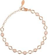 Latelita Milan Link Gemstone Bracelet Rose Gold Rose Quartz