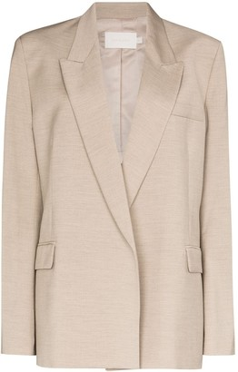 Low Classic Single-Breasted Wool Blazer