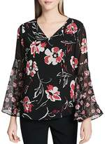 Calvin Klein Floral Print Bell Sleeve Blouse