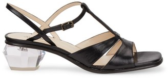 Marc Jacobs The Gem Leather T-Strap Sandals