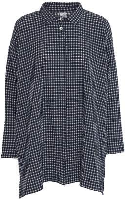 Mcverdi Oversize Checkered Tunic Shirt