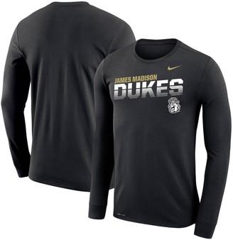 Nike Men's Black James Madison Dukes Sideline Legend Performance Long Sleeve T-Shirt