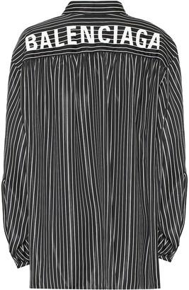 Balenciaga Scarf striped shirt