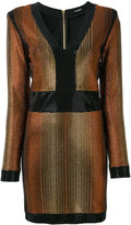 Balmain stone encrusted fitted dress - women - Spandex/Elastane/Viscose/metal/glass - 36