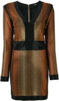 Balmain stone encrusted fitted dress - women - Spandex/Elastane/Viscose/metal/glass - 38