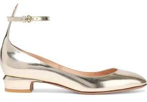 Valentino Mirrored Leather Ballet Flats