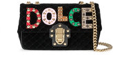 Dolce & Gabbana Lucia studded quilted shoulder bag