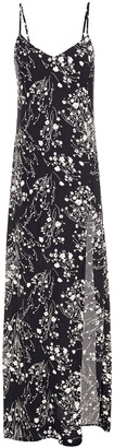 Reformation Harlowe Floral-print Crepe Maxi Dress