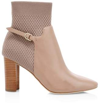 Cole Haan Camille Knit Leather Ankle Boots
