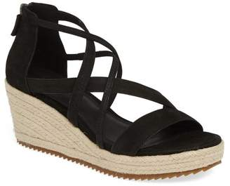 Eileen Fisher Wanda Cross Strap Wedge Sandal