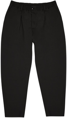 Marni Black tapered wool trousers
