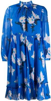 Dorothee Schumacher Tie-Neck Ruched Detail Dress