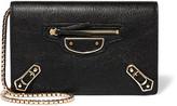 Balenciaga Metallic Edge Textured-leather Shoulder Bag