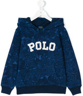 Ralph Lauren logo floral print hoodie - kids - Cotton - 5 yrs