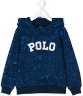 Ralph Lauren logo floral print hoodie