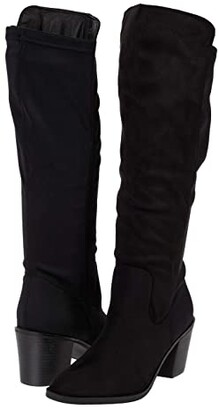 CL By Laundry Karma Suede - Lycra (Black) Women's Boots