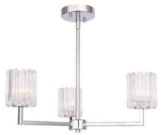 Rosendahl House of Hampton 3-Light Shaded Classic / Traditional Chandelier House of Hampton Bulb Type: LED
