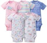Gerber Baby Girls' 5 Pack Onesie set - Owls (3-6 Months)