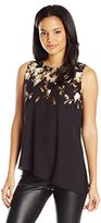 Calvin Klein Women's Printed Asymmetrical Top