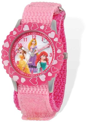 Disney Princess Pink Hook and Loop Time Teacher Watch