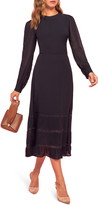 Reformation Valerie Ruffle Hem Long Sleeve Dress