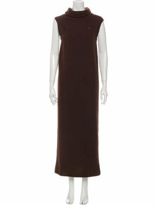 Hermes Cashmere Long Dress Brown