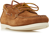 Dune Boater Suede Classic Boat Shoes, Tan