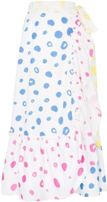 Mira Mikati Scribble Dot Print Wrap Skirt
