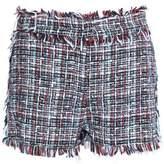 MSGM Tweed And Denim Shorts
