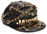 Moschino Chain-Detail Quilted Logo Baseball Cap