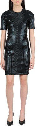Thierry Mugler Embossed Mini Dress