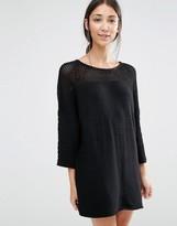 Vila Sweater Dress With Open Weave Yoke
