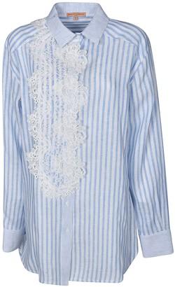Ermanno Scervino Stripe Laced Detail Long Shirt