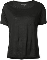 Majestic Filatures patch pocket T-shirt - women - Linen/Flax/Spandex/Elastane - 1