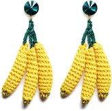 Venessa Arizaga 'Banana Split' rhinestone crochet fruit drop earrings