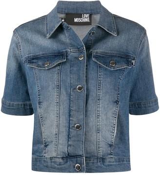 Love Moschino Faded Denim Jacket