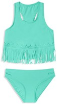 Gossip Girl Girls' Fringed Laser Cut Tankini - Sizes 7-16