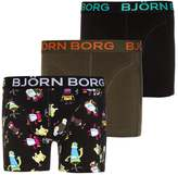 Bjorn Borg ROBO SAMMY SHORTS 3 PACK Shorts black