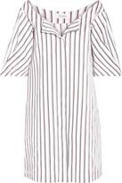 Isa Arfen Striped Cotton-poplin Mini Dress - White