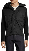 Moncler Virgin Wool Quilted Contrast Cardigan