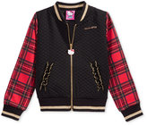 Hello Kitty Quilted Plaid Bomber Jacket, Toddler & Little Girls (2T-6X)
